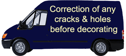 Correction of any cracks & holes before decorating