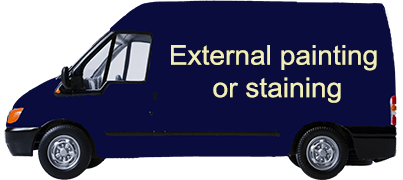 External painting or staining