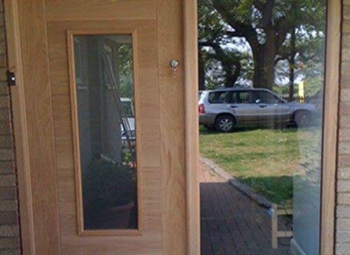 Oak Front door and side panel