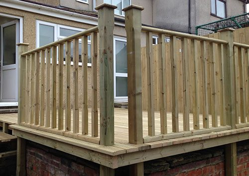 Raised decking area after