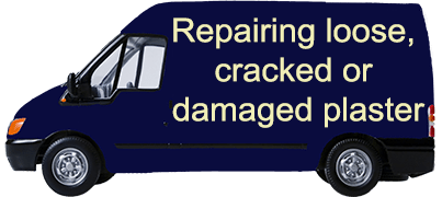 Repairing loose, cracked or damaged plaster
