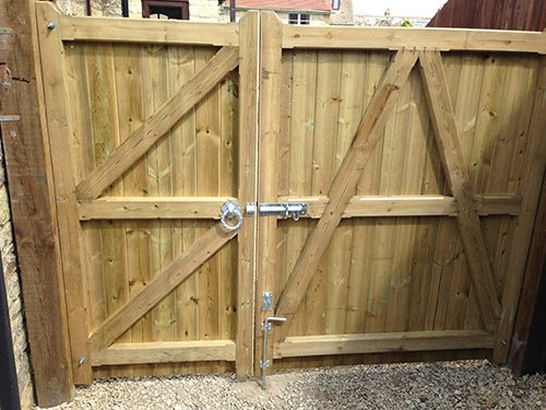 replacing purpose made double gates after